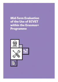 Mid-Term Evaluation of hte Use of ECVET within the Erasmus+ Programme cover