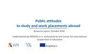 Public attitudes to study and work placements abroad