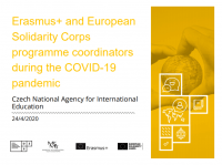 Erasmus+ and European Solidarity Corps programme coordinators during the COVID 19 pandemic