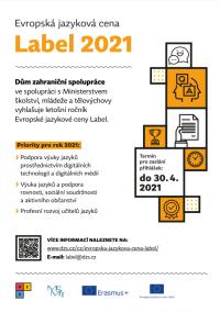 Evropská jazyková cena Label 2021: Výzva
